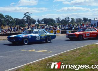HQ Holdens racing at Symmons Plains in Tasmania